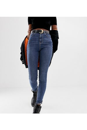 COLLUSION Tall x001 skinny jeans in mid wash blue