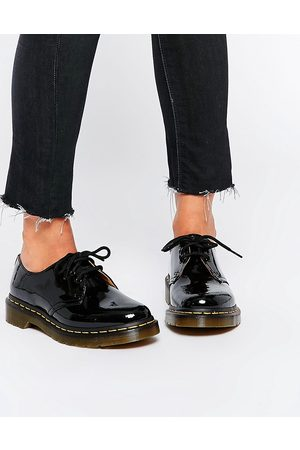 Dr. Martens Dame Loafers - 1461 classic black patent flat shoes