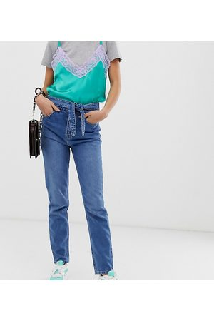 See You Never Tie waist skinny jeans-Blue