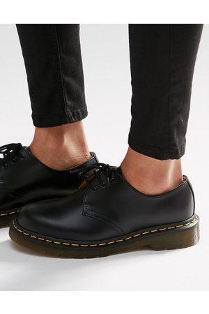 Dr. Martens 1461 3-eye gibson flat shoes-Black