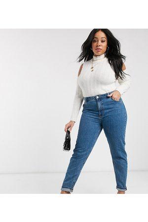 Vero Moda Mom jean in medium blue