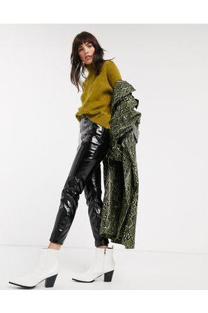 ASOS Spray on vinyl trousers-Black