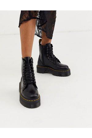 Dr. Martens Jadon Flatform Chunky Boots-Black