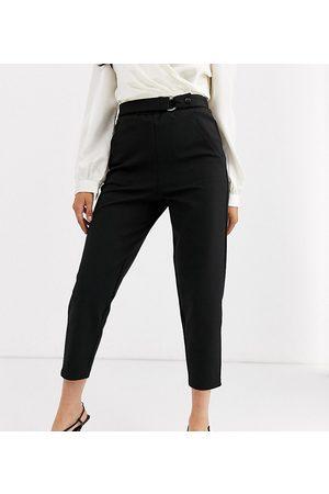 ASOS ASOS DESIGN Petite smart slim trouser in ponte-Black