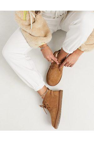 UGG Neumel Chestnut Lace Up Ankle Boots-Brown