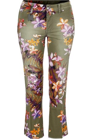 S.o.s Jeans Flair stretch orchid print