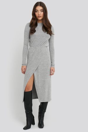 NA-KD Dame Hverdagskjoler - Light Knitted Melange Dress
