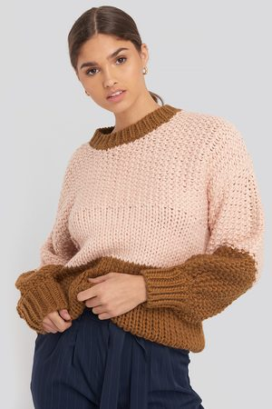 NA-KD Two Coloured Heavy Knitted Sweater