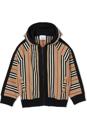 Burberry Icon stripe hooded jacket