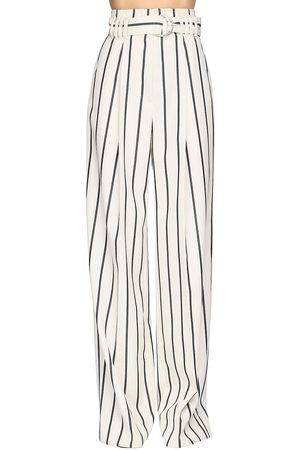 Proenza Schouler High Waist Striped Wool Twill Pants