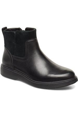 Clarks Un Elda Lo Shoes Boots Ankle Boots Ankle Boots Flat Heel Svart