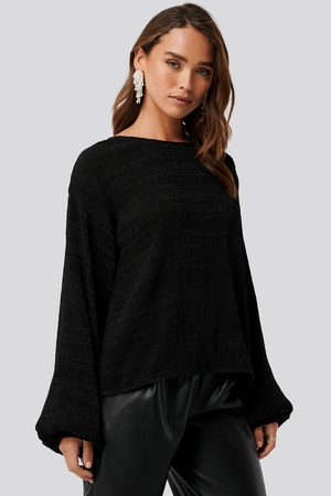 NA-KD Structured Glittery Top