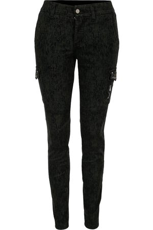 S.o.s Jeans P1479 Angelina cargo pants, tech stretch sateen mimetic & studs