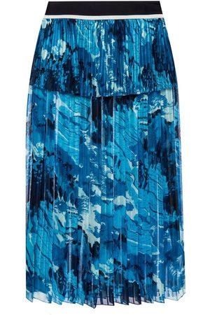 Victoria Beckham Printed pleated skirt