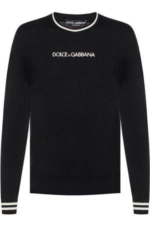 Dolce & Gabbana Herre Gensere - Logo-embroidered sweater