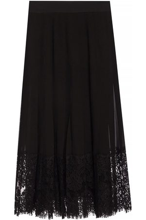 Dolce & Gabbana Pleated skirt with lace trim