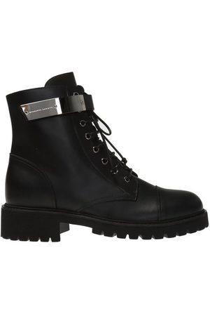 Giuseppe Zanotti 'Kommando' logo-embossed ankle boots
