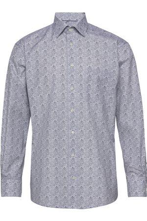 Eton Paisley Print Shirt Skjorte Business Blå