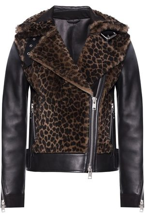 AllSaints Elia' shearling biker jacket