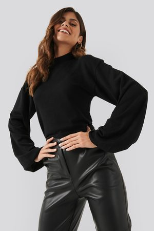 NA-KD Dame Strikkegensere - Balloon Sleeve Cropped Sweater