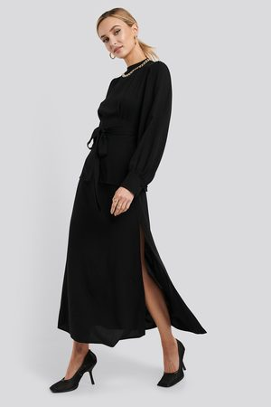NA-KD Dame Midiskjørt - High Waist Side Split Midi Skirt