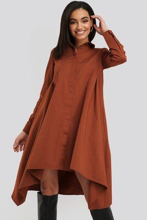 NA-KD Asymmetrical Shirt Dress