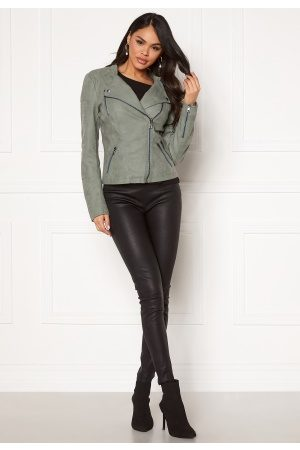Only Dame Skinnjakker - Ava Faux Leather Biker Chinois Green 42