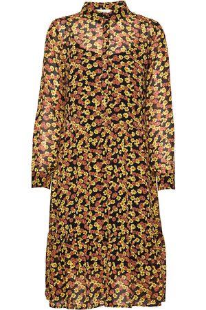 Modstrom Annabelle Print Dress Knelang Kjole Gul