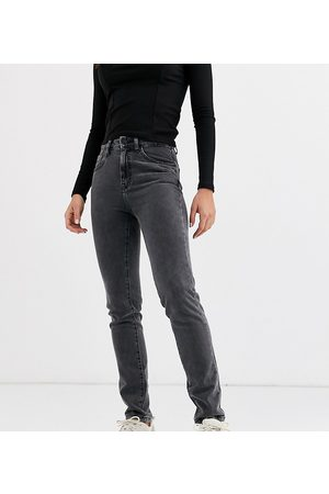 Noisy May Straight leg jeans in washed black