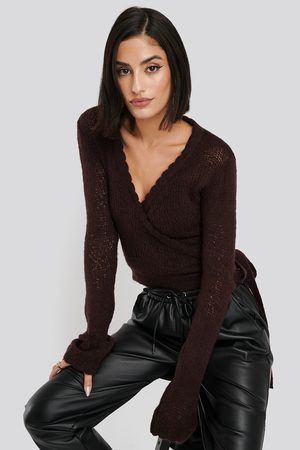 NA-KD Dame Gensere - Overlap Rib Detail Knitted Sweater