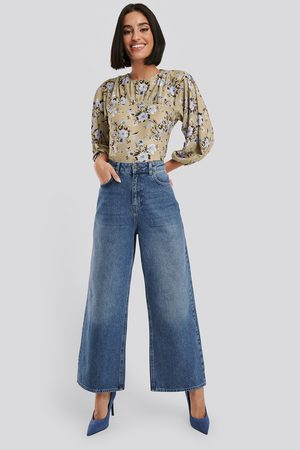 NA-KD Dame Bootcut - Straight Fit Cropped Jeans
