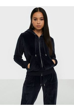 Robertson Classic Velour Zip Trough Hoodie Night Sky
