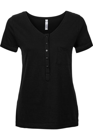 bonprix T-shirt med knappelist