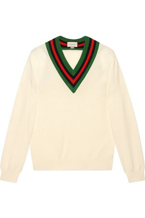 Gucci V-neck wool knit jumper