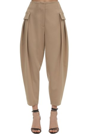 Stella McCartney Dame Cargobukser - Tailored Stretch Wool Cargo Pants