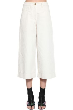 Kenzo Dame Culotte bukser - Cropped Soft Linen Drill Culottes