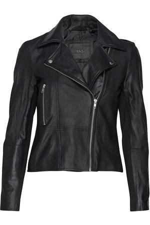YAS Dame Skinnjakker - Sophie Leather Jacket Noos Skinnjakke Skinnjakke Svart
