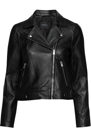 Selected Slfkatie Leather Jacket B Noos Skinnjakke Skinnjakke Svart
