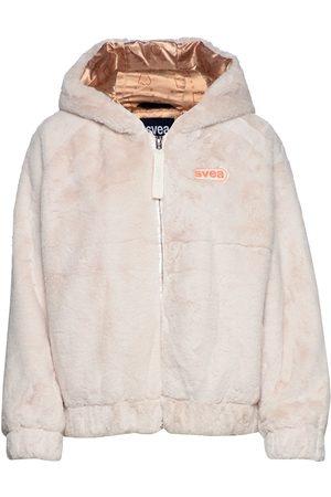 Svea Faux Fur Hood Jacket Outerwear Faux Fur Creme