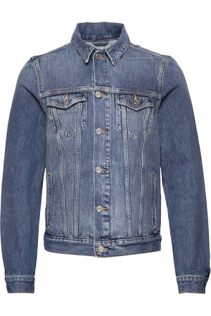 Scotch&Soda Classic Trucker Jacket With Label Detail Dongerijakke Denimjakke Blå