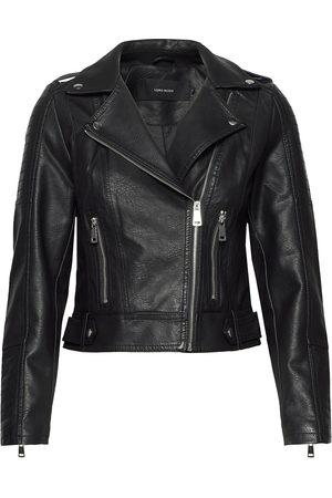 Vero Moda Dame Skinnjakker - Vmkerriultra Short Coated Jacket Noos Skinnjakke Skinnjakke Svart