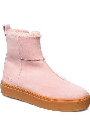 Svea Dame Skoletter - Suede / Pile Boots Shoes Boots Ankle Boots Ankle Boots Flat Heel Rosa