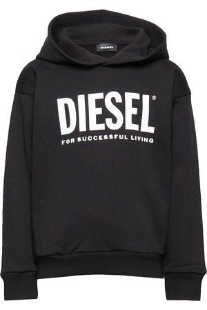 Diesel Sdivision-Logo Over Sweat-Shirt Hettegenser Genser Svart