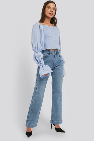 NA-KD Dame Straight - Mid Rise Straight Leg Jeans