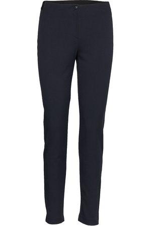Gerry Weber Dame Smale bukser - Crop Leisure Trouser Stramme Bukser Stoffbukser Blå