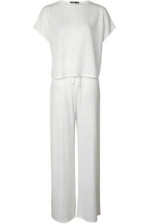 Boohoo Rib Oversized T-Shirt + Wide Leg Co-Ord