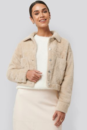 NA-KD Hairy Faux Fur Jacket