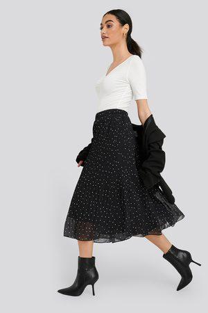 NA-KD Dame Foldeskjørt - Pleated Dotted Skirt