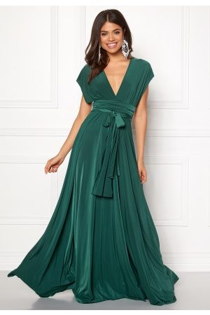 Goddiva Multi Tie Maxi Dress Green XS (UK8)