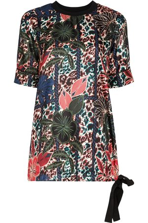 Moncler Maglia Manica Corta floral blouse